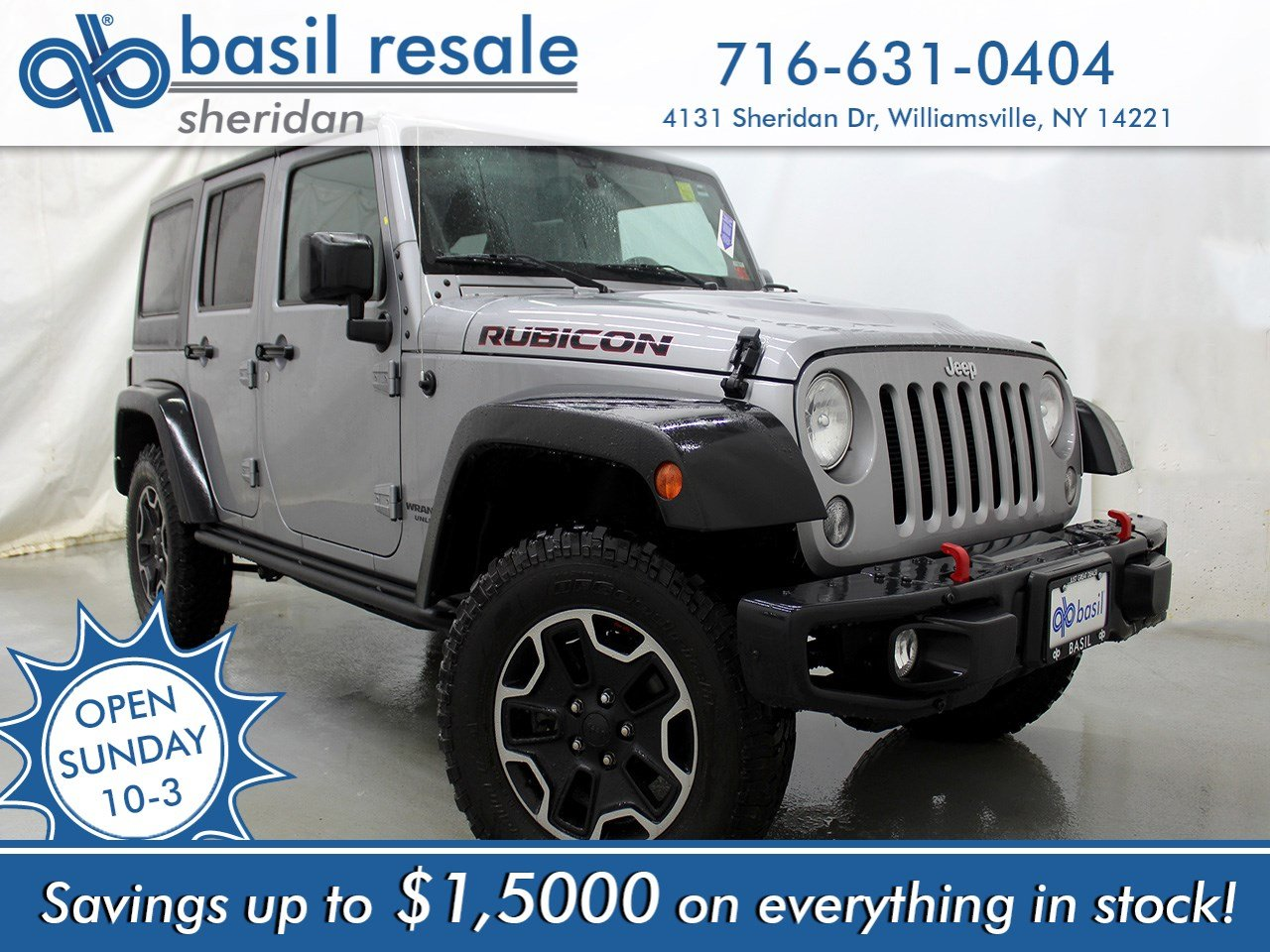 Pre Owned 2016 Jeep Wrangler Unlimited Rubicon Hard Rock