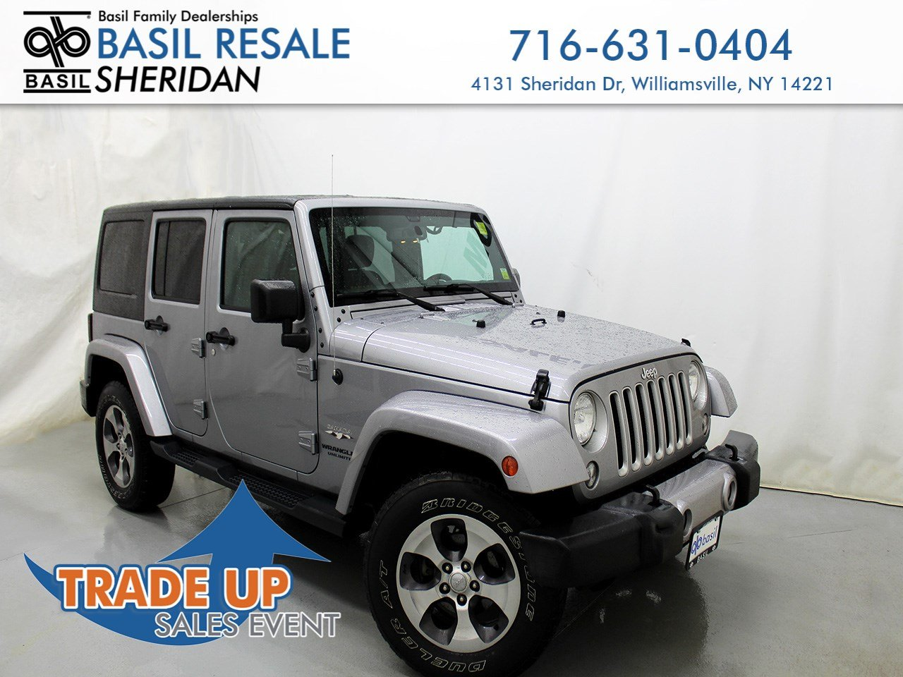 Jeep Sahara 2016 >> Pre Owned 2016 Jeep Wrangler Unlimited Sahara With Navigation 4wd