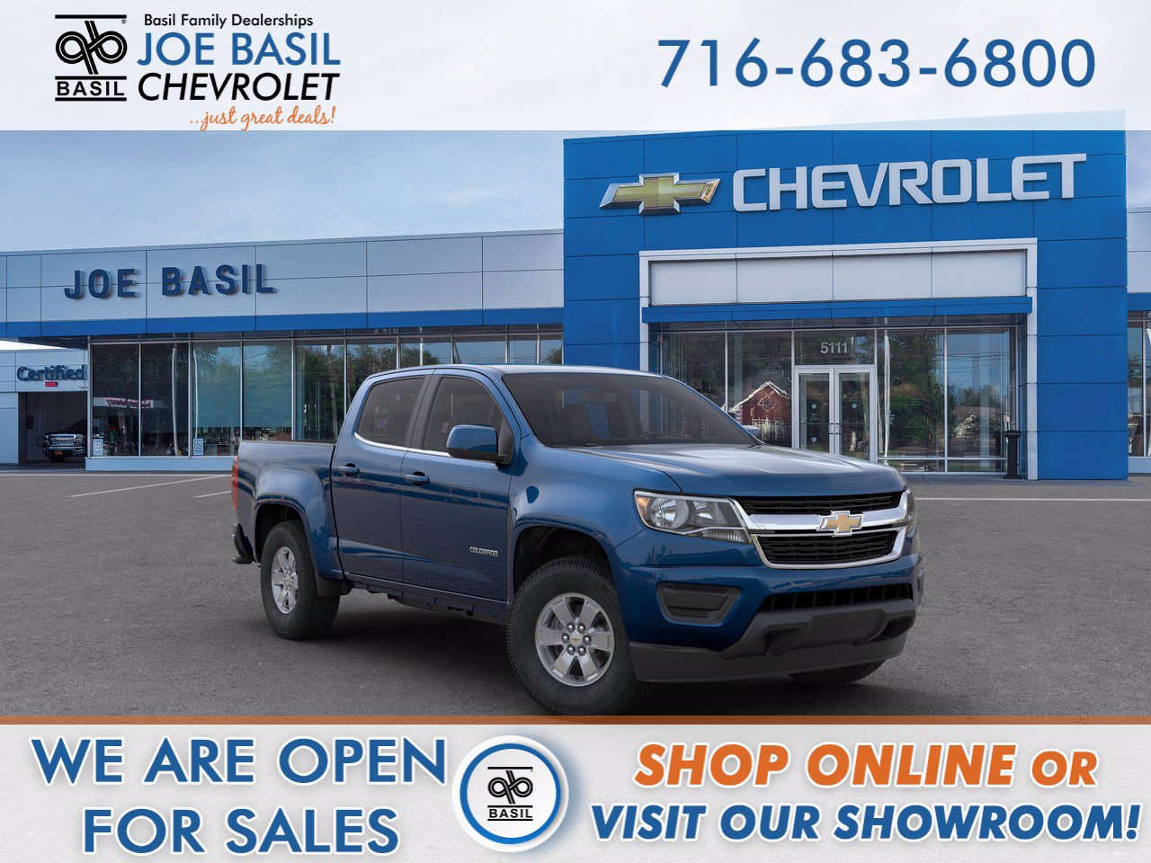 New 2020 Chevrolet Colorado 2WD Work Truck Crew Cab Pickup