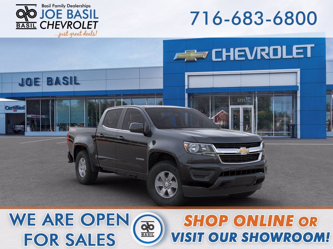 Basil Resale Sheridan >> New 2020 Chevrolet Colorado 4WD Work Truck Crew Cab Pickup in Williamsville #CCR1201 | Basil ...