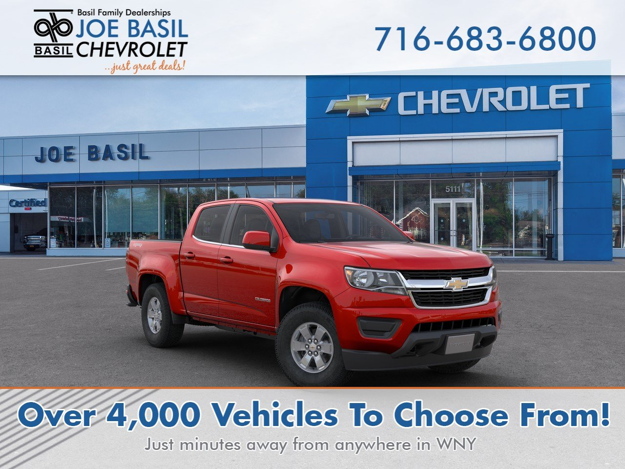 New 2020 Chevrolet Colorado 4WD Work Truck Crew Cab Pickup