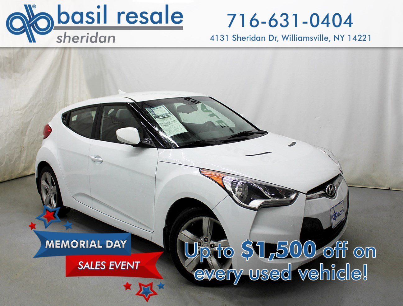 Pre-Owned 2013 Hyundai Veloster w/Gray Int